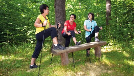 Nordic Walking auf der Rabeninsel