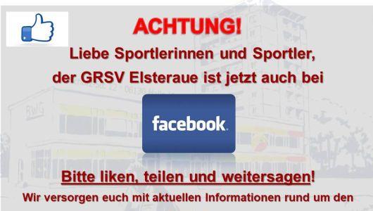 Der GRSV Elsteraue e.V. bei Facebook!