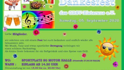 Dankesfest September 2020